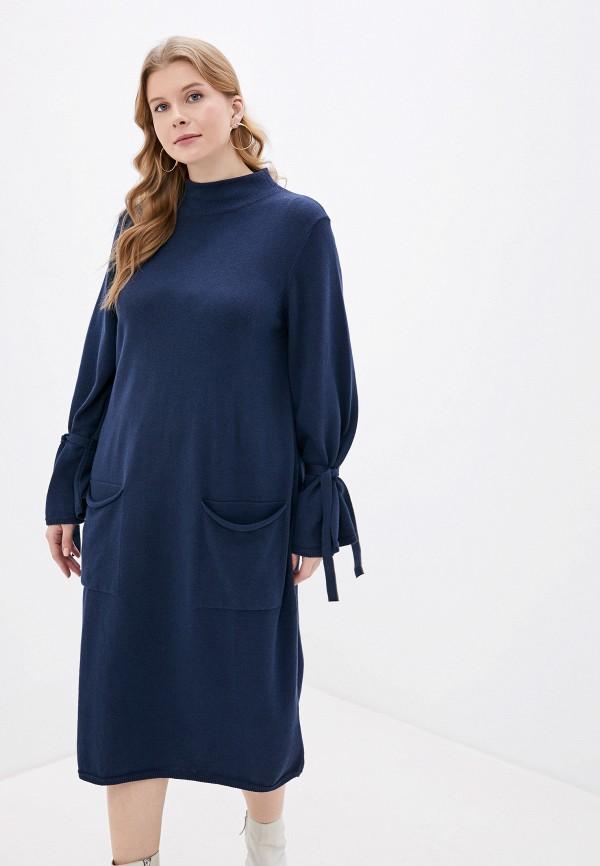 женское платье ulla popken, синее