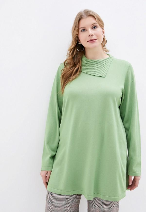 женский свитер ulla popken, зеленый