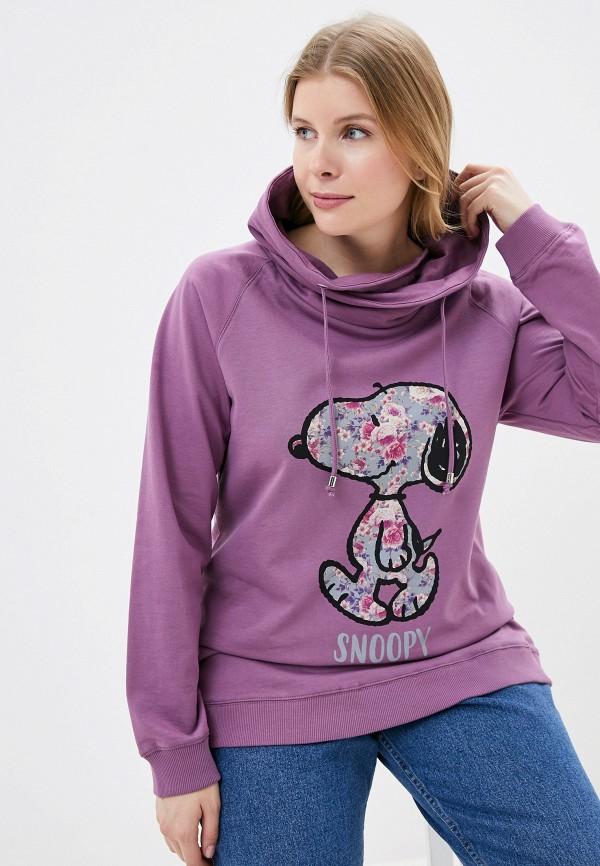 женские худи ulla popken, фиолетовые