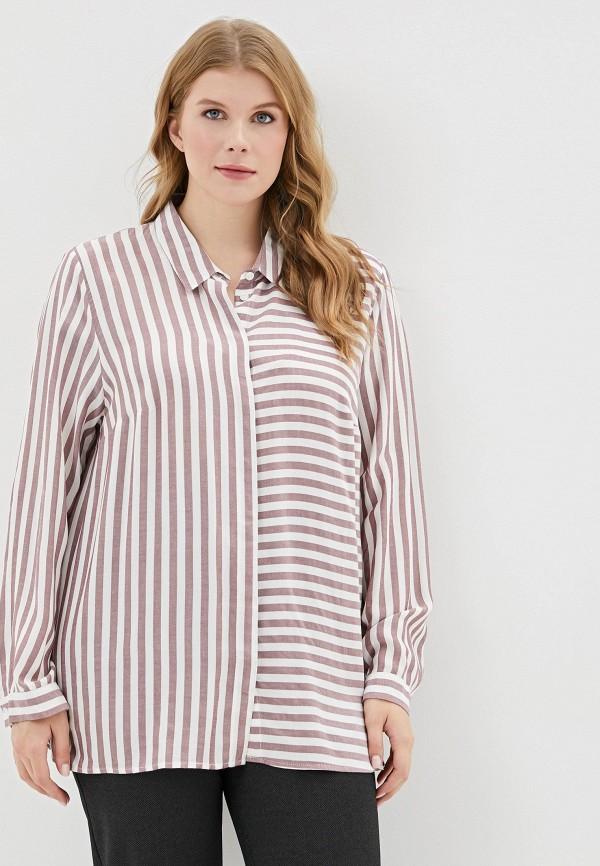 женская блузка ulla popken, розовая
