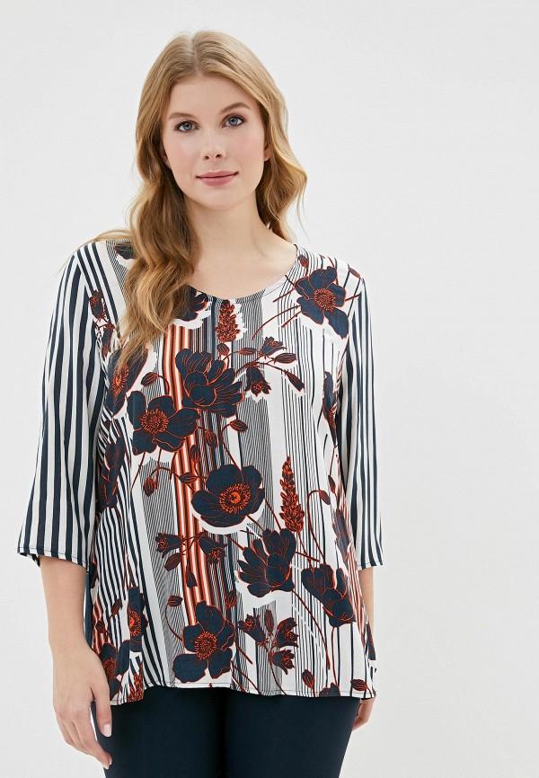 женская блузка ulla popken, разноцветная