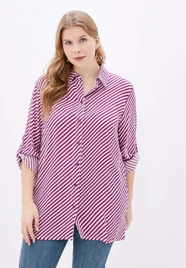 женская блузка ulla popken, фиолетовая