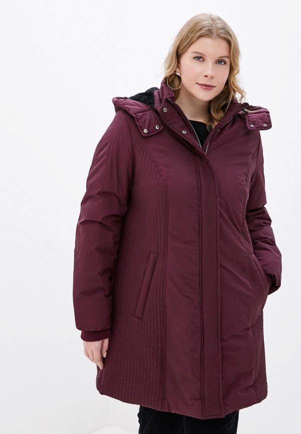 женская куртка ulla popken, бордовая