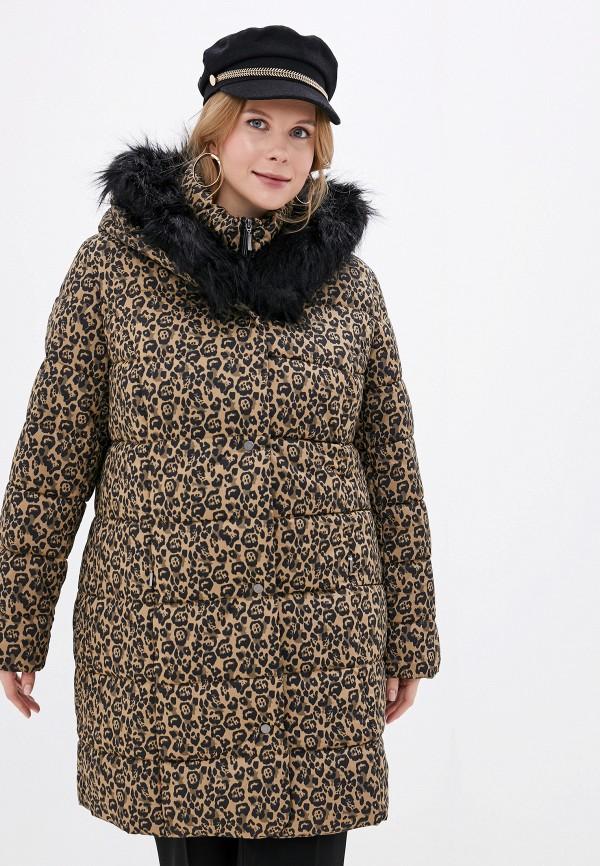 женская куртка ulla popken, коричневая