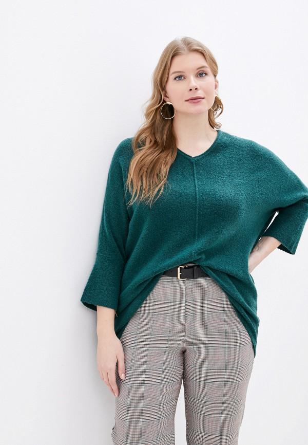женский пуловер ulla popken, зеленый