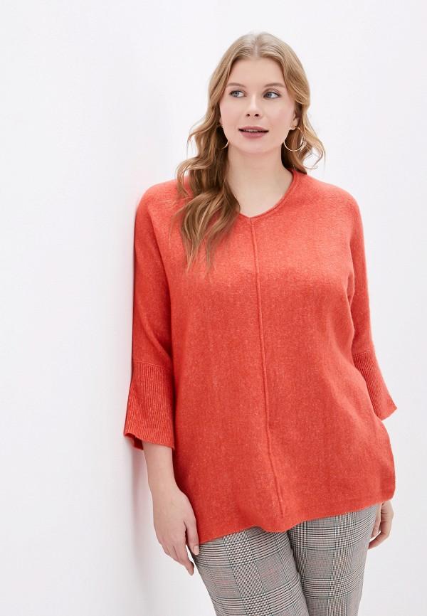 женский пуловер ulla popken, оранжевый