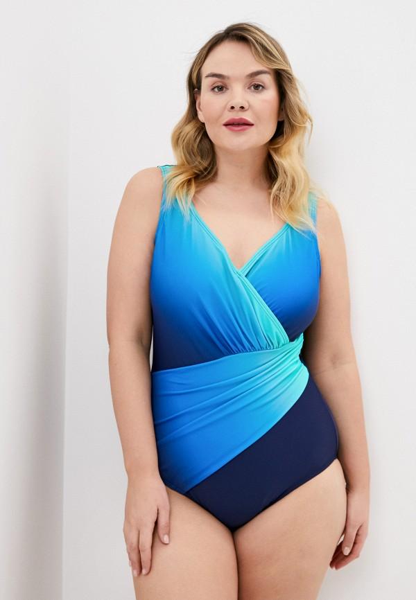 женский купальник ulla popken, синий