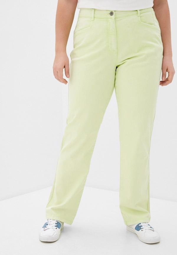 женские прямые брюки ulla popken, зеленые