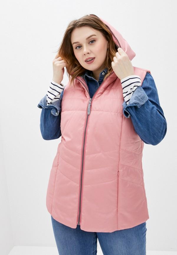 женский жилет ulla popken, розовый
