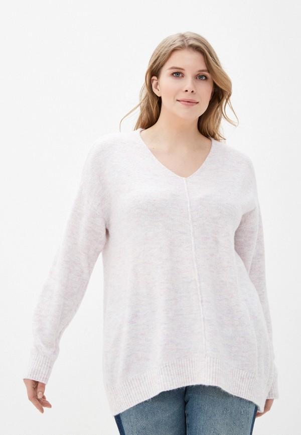 женский пуловер ulla popken, розовый
