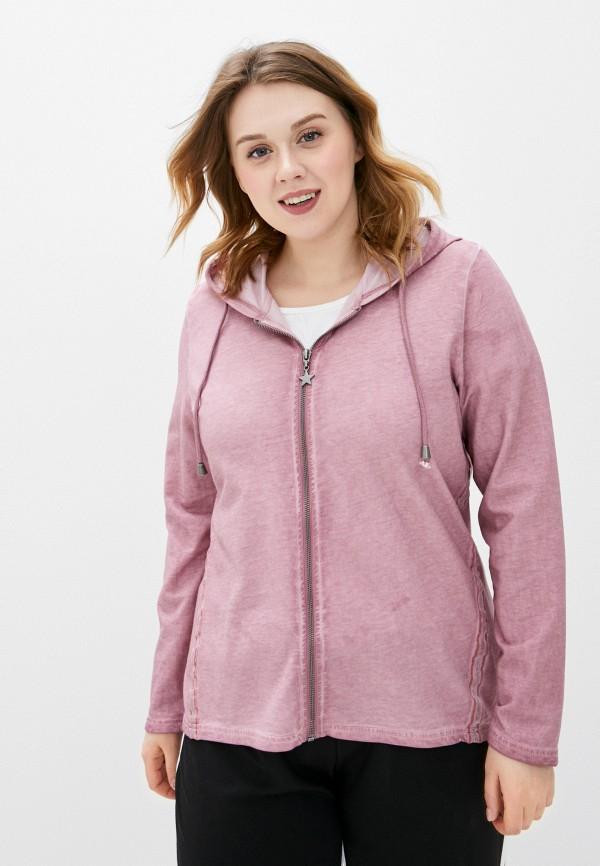 женская толстовка ulla popken, розовая