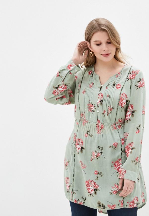 женское повседневные платье ulla popken, зеленое