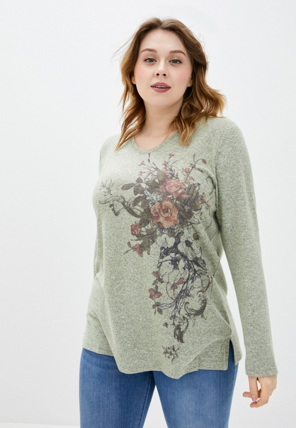 женский пуловер ulla popken, хаки