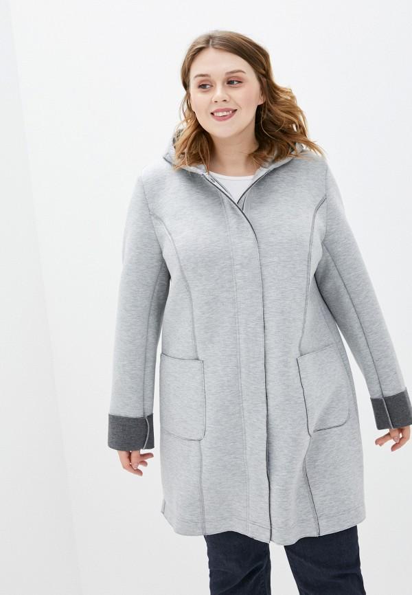 женское пальто ulla popken, серое