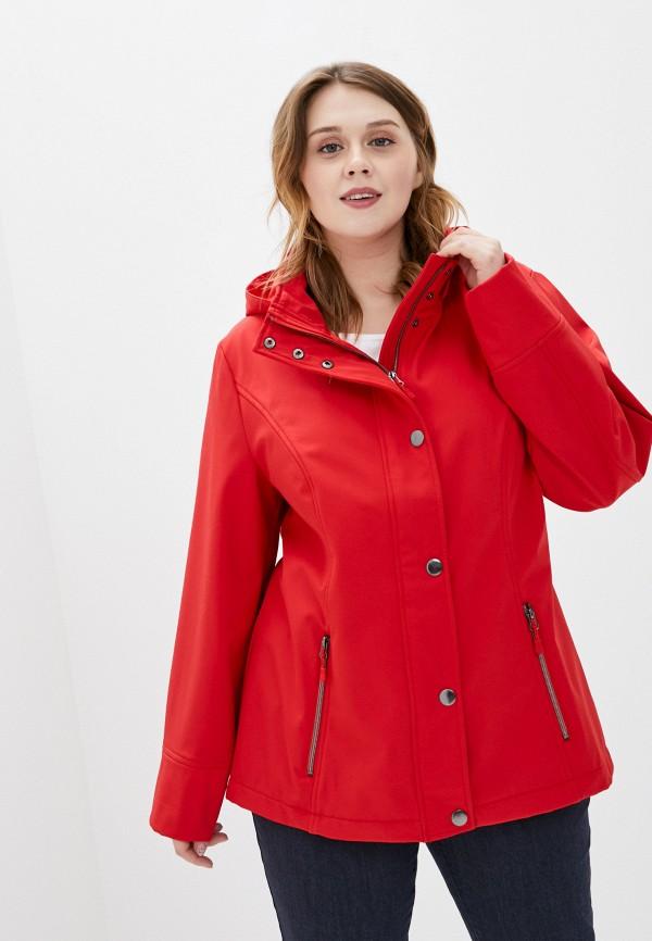 женская куртка ulla popken, красная