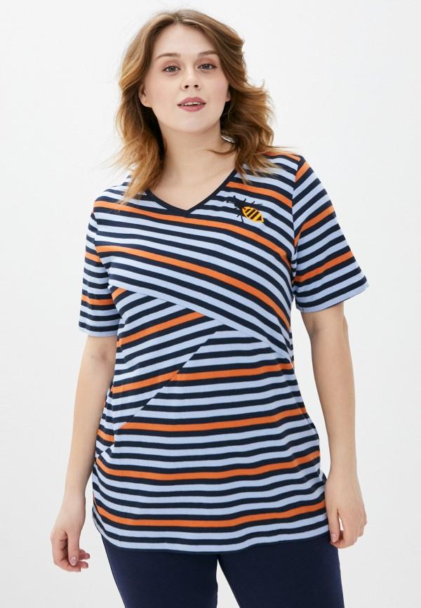 женская футболка ulla popken, разноцветная