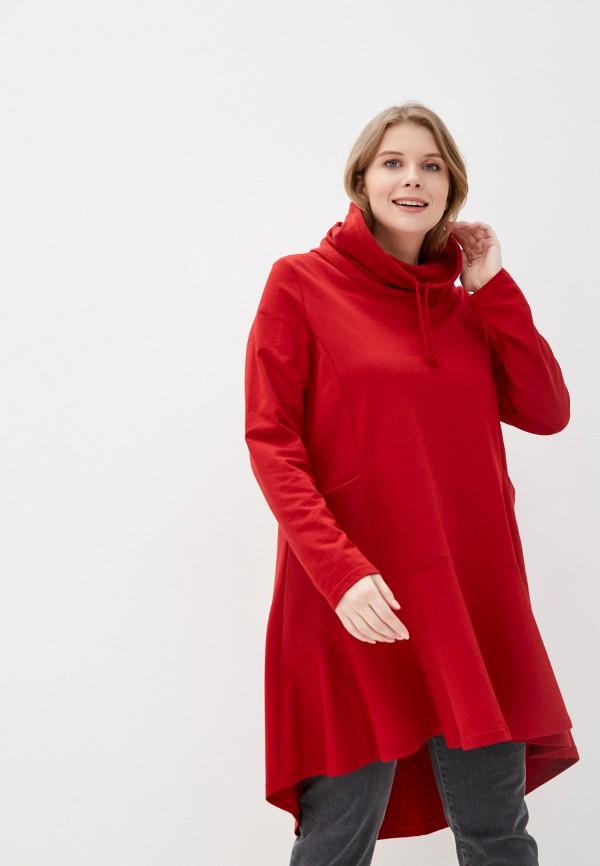 женская туника ulla popken, красная