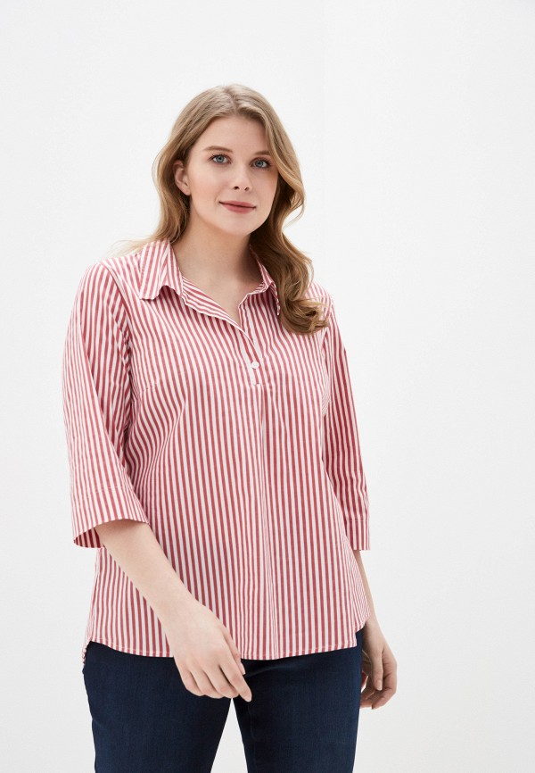 женская блузка ulla popken, красная