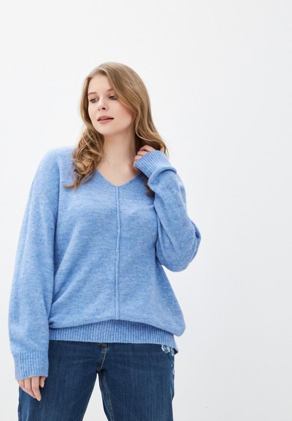 женский пуловер ulla popken, голубой