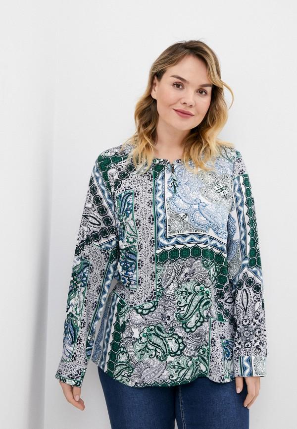 женская блузка ulla popken, синяя