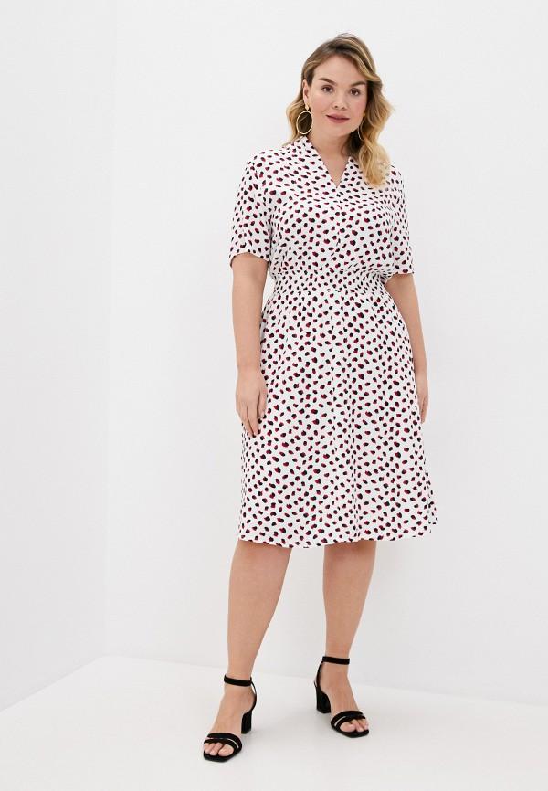женское повседневные платье ulla popken, белое