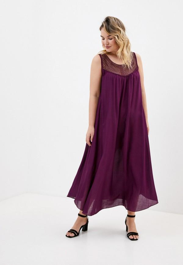 женское вечерние платье ulla popken, фиолетовое