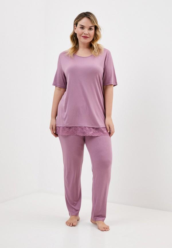 женская пижама ulla popken, фиолетовая