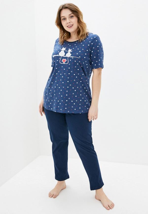 женская пижама ulla popken, синяя