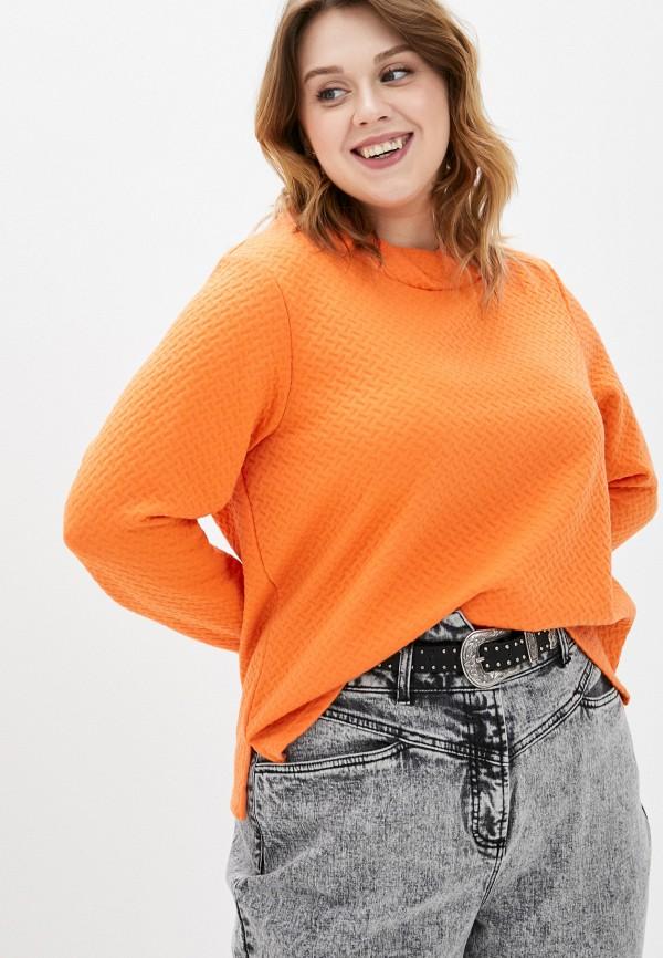женский свитшот ulla popken, оранжевый