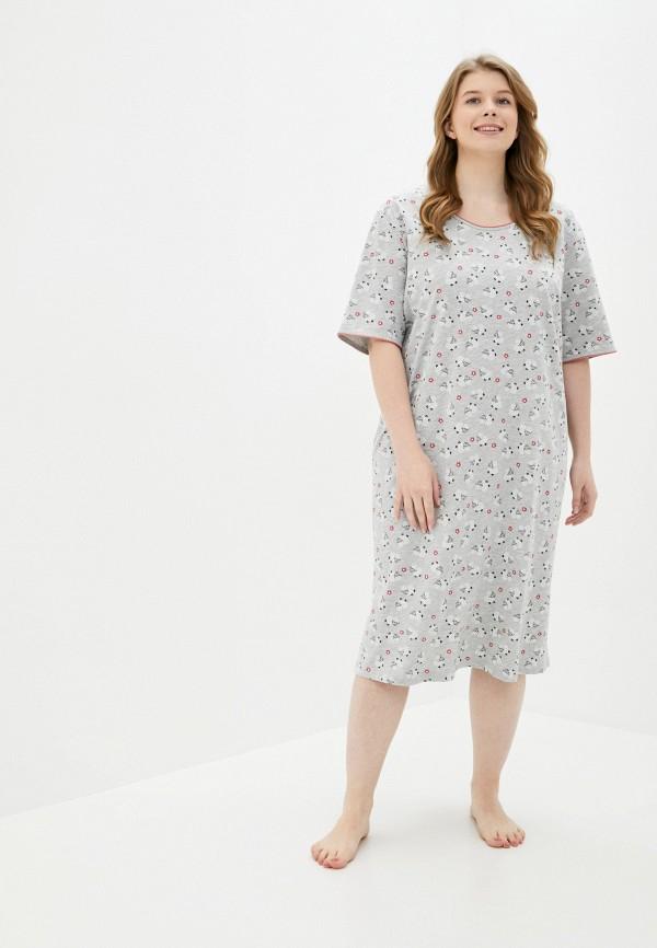 женское платье ulla popken, серое