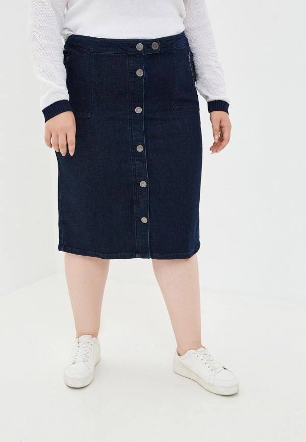 женская джинсовые юбка ulla popken, синяя