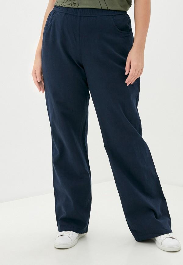 женские прямые брюки ulla popken, синие