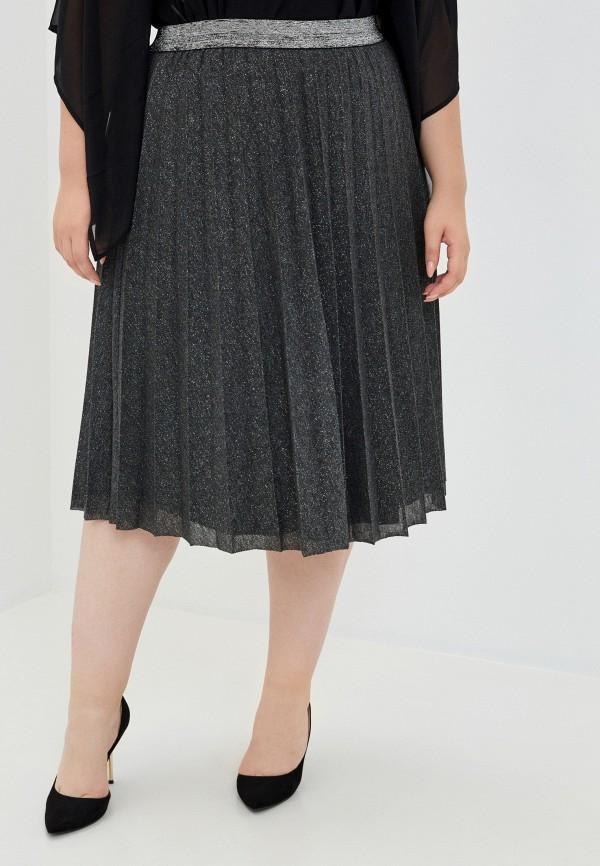 женская плиссированные юбка ulla popken, серая