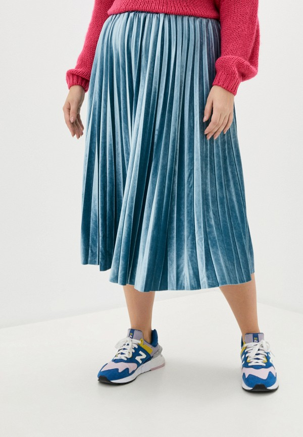 женская юбка ulla popken, голубая