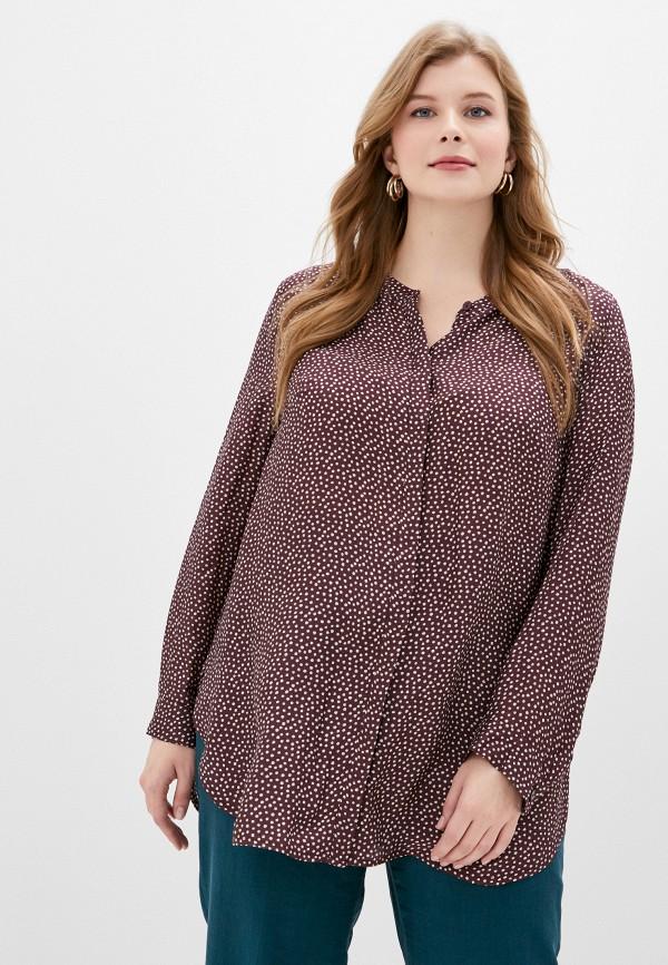 женская блузка ulla popken, коричневая