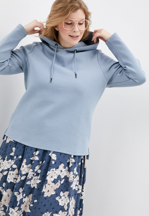женские худи ulla popken, голубые