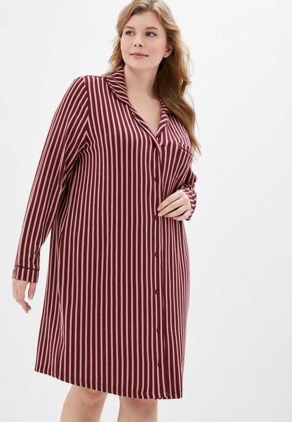 женское платье ulla popken, бордовое