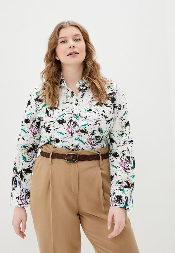 женская рубашка с длинным рукавом ulla popken, разноцветная