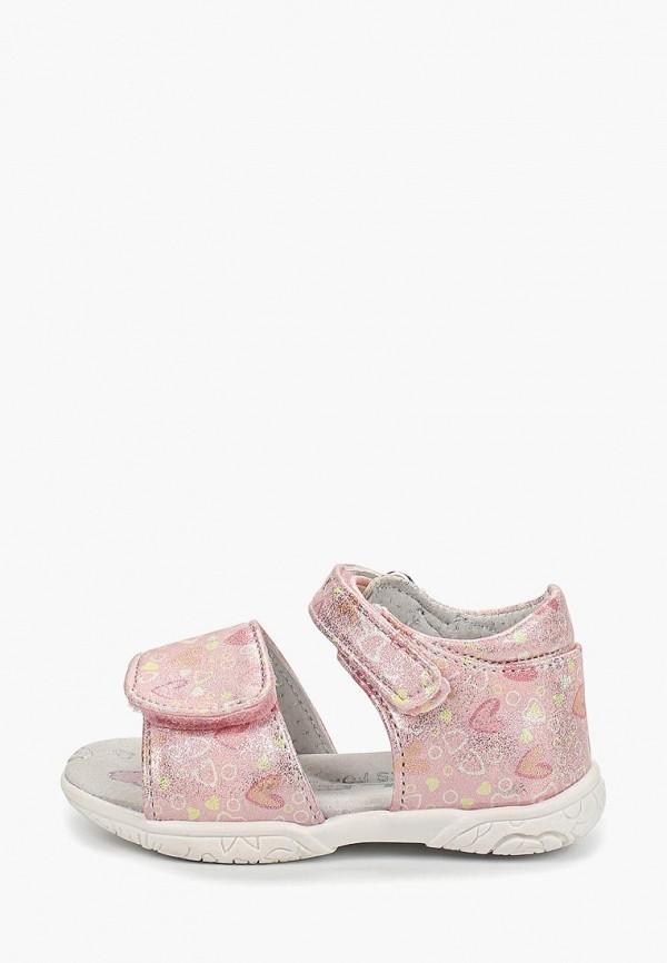 сандалии ulёt для девочки, розовые