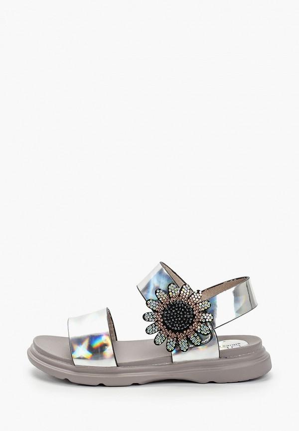 сандалии ulёt для девочки, серебряные