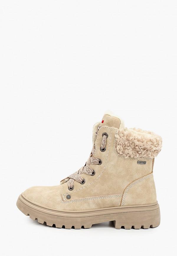 ботинки ulёt для девочки, бежевые