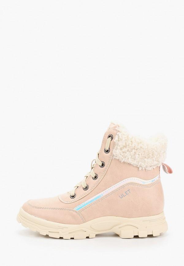 ботинки ulёt для девочки, розовые