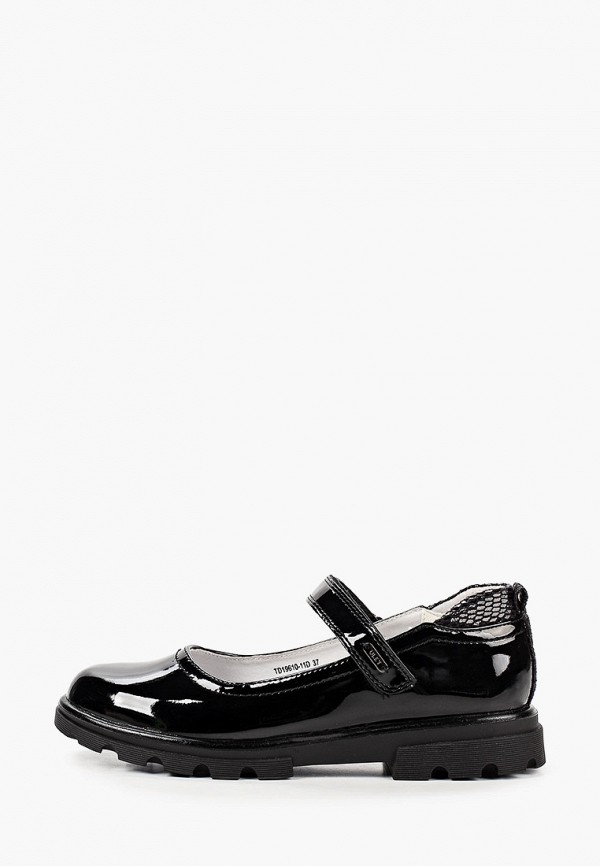 туфли ulёt для девочки, черные