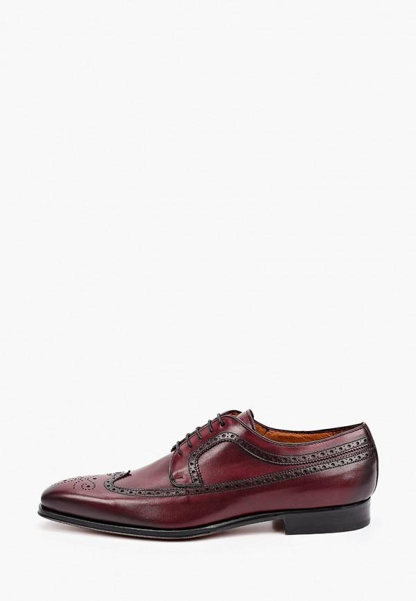 мужские туфли umber, бордовые