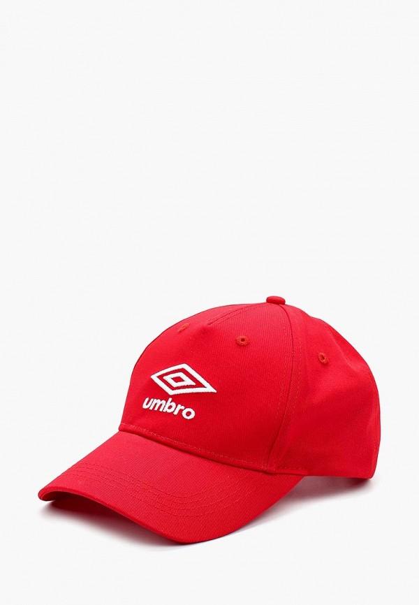 женская бейсболка umbro, красная