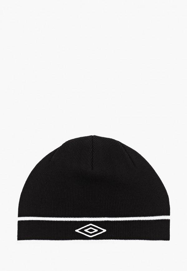 женская шапка umbro, черная