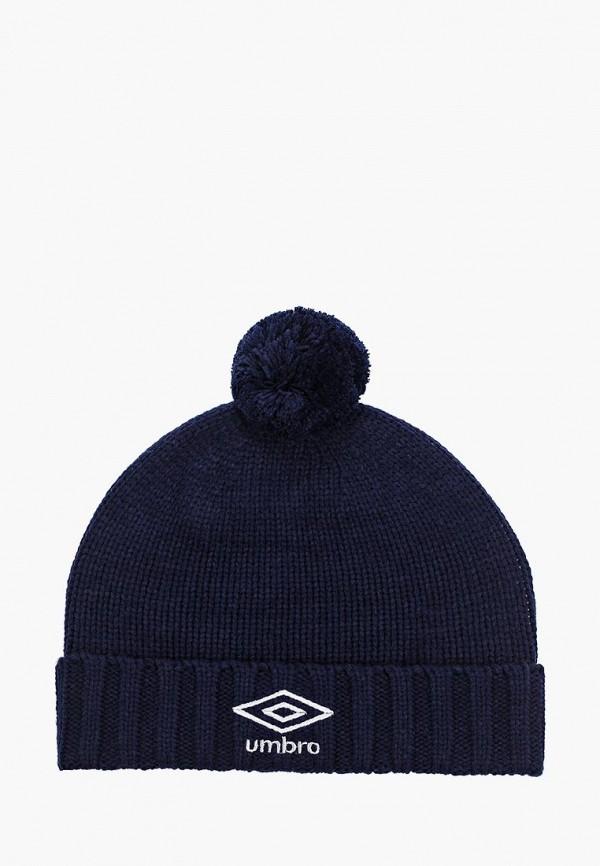 женская шапка umbro, синяя