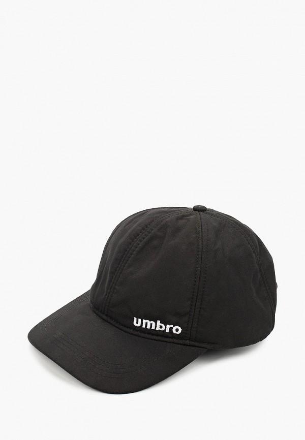 женская бейсболка umbro, черная