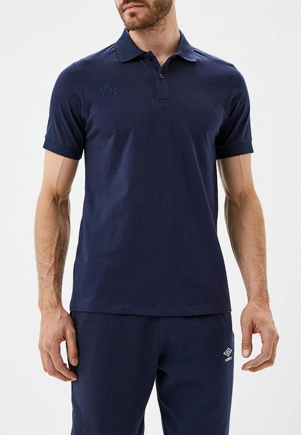мужское поло umbro, синее