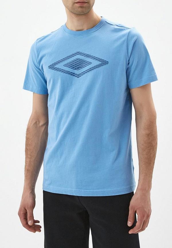 мужская футболка umbro, синяя